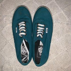 Vans Shoes - Green/blue vans